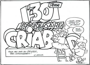 Christian Goux BD, illustrations, les 30 ans du CRIABD