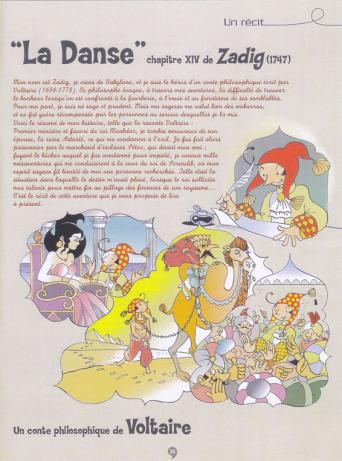 Christian Goux BD, illustrations, Zadig de Voltaire, roman illustré, extrait 1
