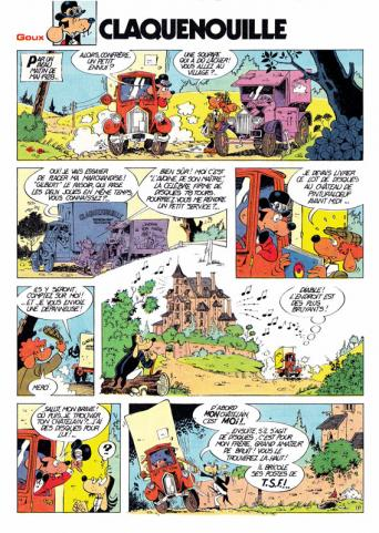 Christian Goux BD, presse, Spirou, Claquenouille, page1