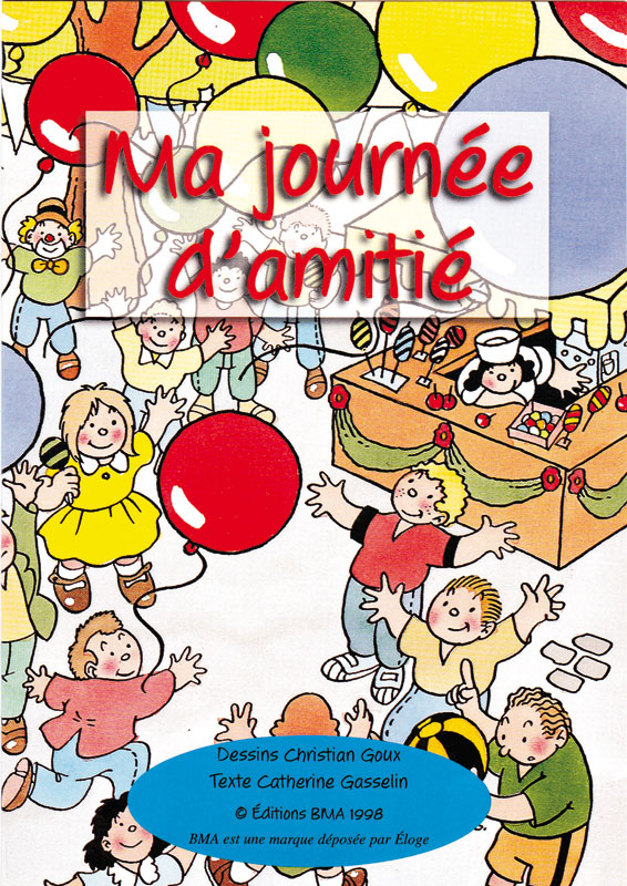 Christian Goux BD, illustrations, couverture Ma journée d'amitié