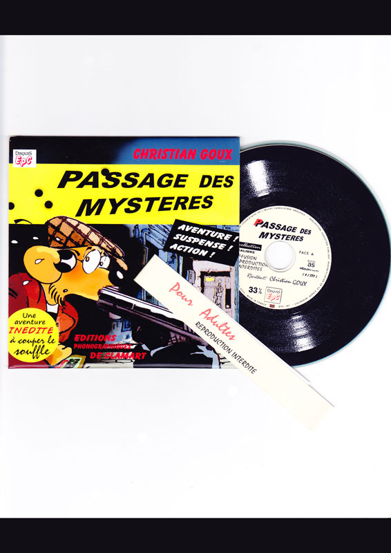 Christian Goux BD illustrations pochette CD, Passage des mystères
